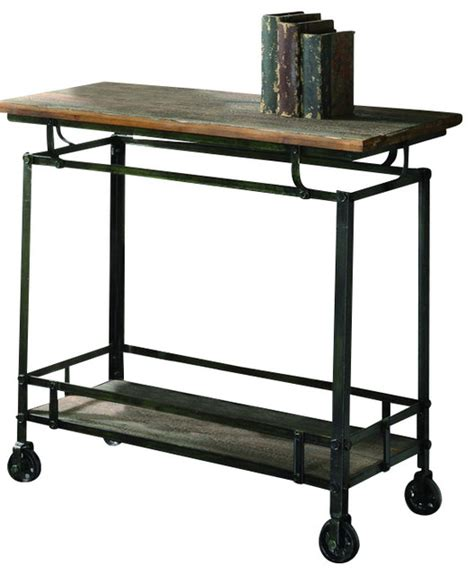 houzz bar cart crestview cvfzr456 pressley cart industrial bar carts