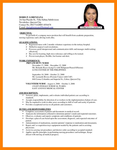 Resume Template Application by 6 Exles Of Cv For Applications Points Of Origins