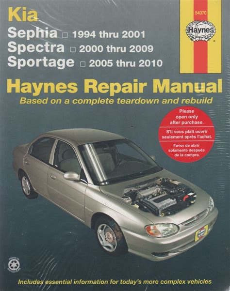 Kia Haynes Manual Kia Sephia Spectra 1994 2009 Haynes Repair Manual Sagin