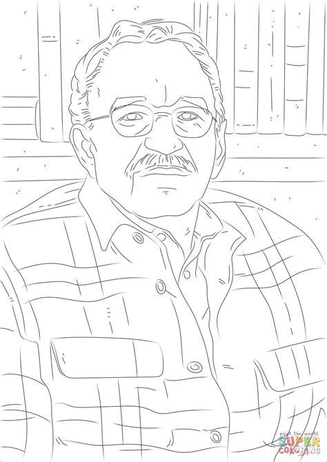 Dibujo de Gabriel García Márquez para colorear | Dibujos