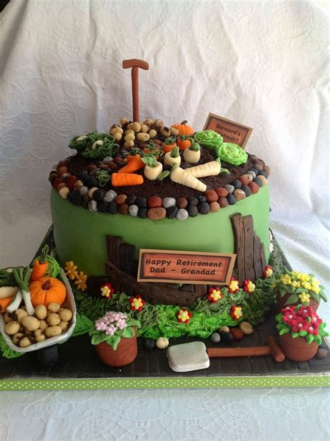 Cake Garden Theme Party Hearty Pinterest Gardens In The Garden Cake Ideas