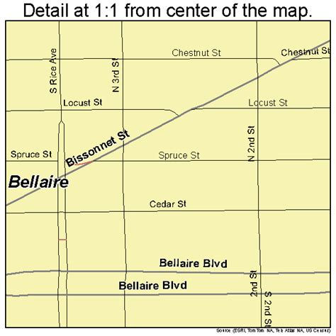 map of bellaire texas bellaire texas map 4807300