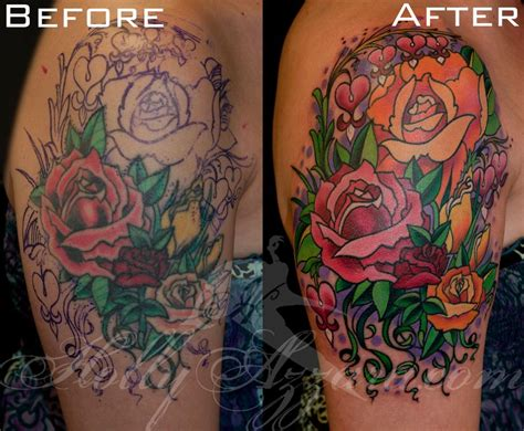 tattoo add ons roses and bleeding hearts add on rework by azzara