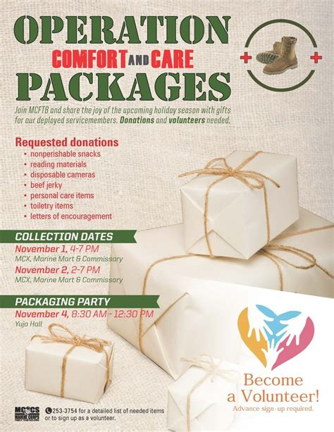 operation care and comfort operation comfort care packages mccs iwakuni events