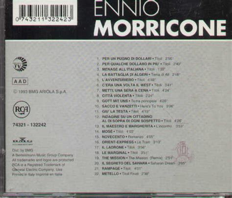 ennio morricone the best ennio morricone all the best