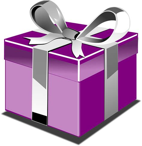 Kotak Kado Warna Hitam Pakai Sekat gambar vektor gratis kotak hadir ungu hadiah gambar gratis di pixabay 307882