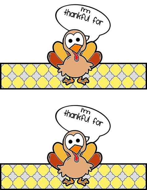 printable turkey to make printable napkin rings for kids to make thanksgiving