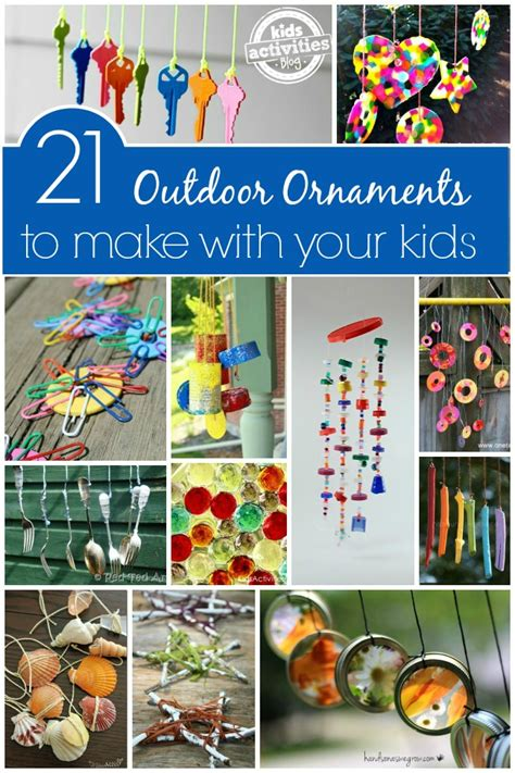 to make with children outdoor ornaments to make with activities