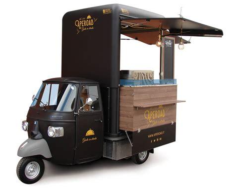 Small Food Truck Design | ape per catering e vendita itinerante aperoad v curve 174