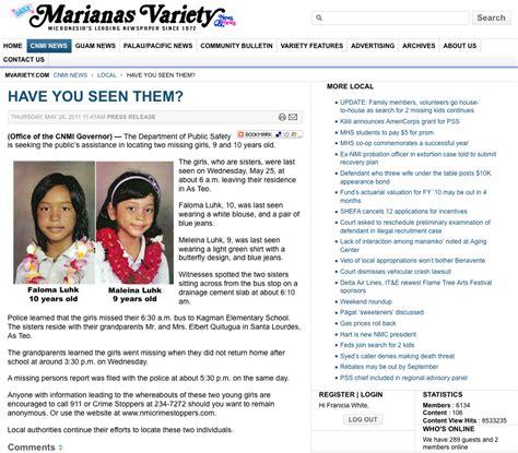 Charming Mvariety #1: Saipan-marianas-variety-newspaper-article-for-faloma-and-maleina-luhk-missing-saipan-sisters-girls.jpg