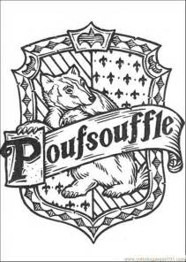hufflepuff crest coloring page harry potter house crest coloring page coloring pages