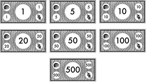 monopoly money templates printable play money black and white printable 360 degree