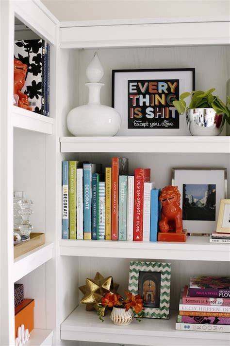 bookcase vignette contemporary bedroom coco kelley