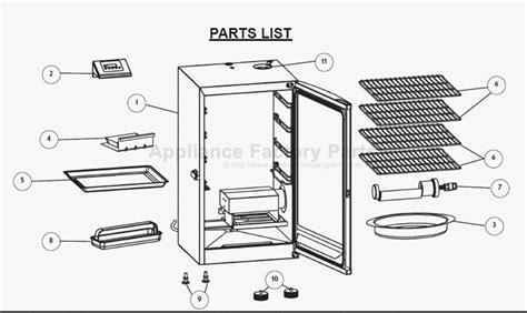 masterbuilt electric smoker replacement parts free wiring diagram images