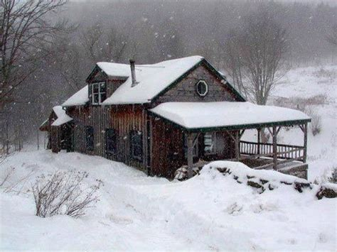 Snowy Cabins by Snowy Winter Cabin Rustic Comfort