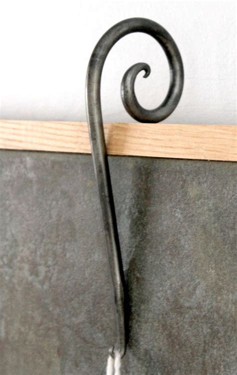 decorative stocking hook whimsical blacksmithed stocking
