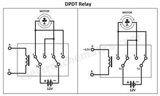dpdt relay pole throw