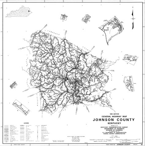 kentucky map johnson county state and county maps of kentucky