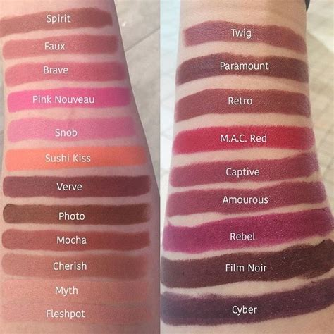mac lip color best 25 mac lipstick swatches ideas on mac