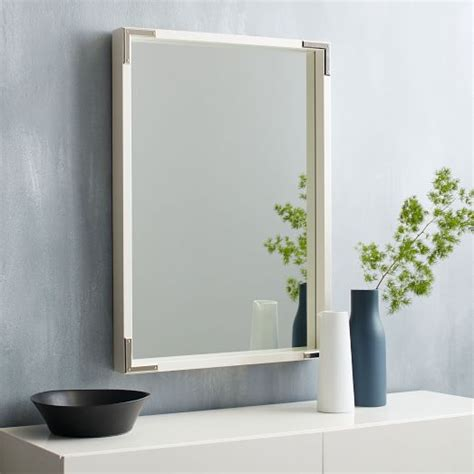 malone caign wall mirror white lacquer west elm