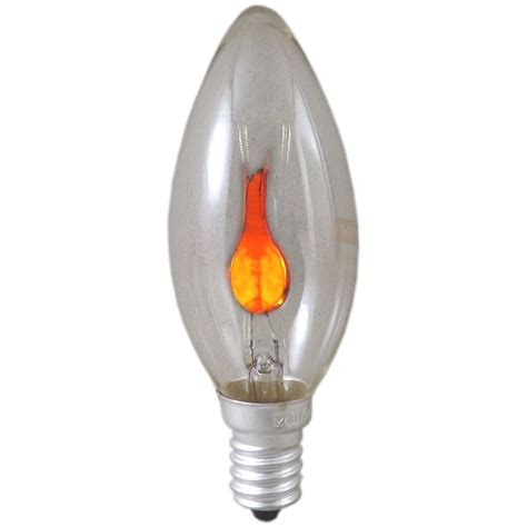 3 watt ses e14mm clear flicker flame candle light bulb