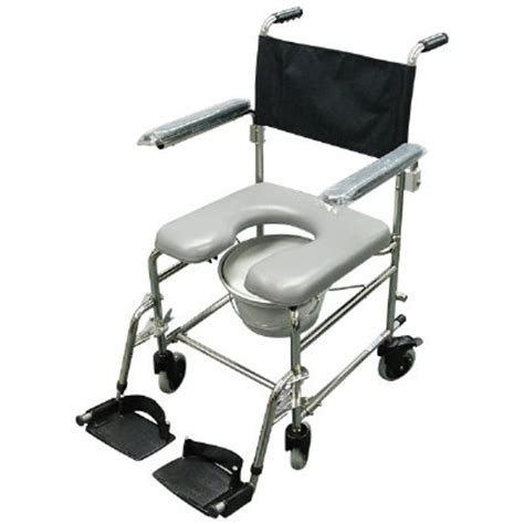 pediatric shower chair with wheels shower commode chair 8 quot wheels stainless steel