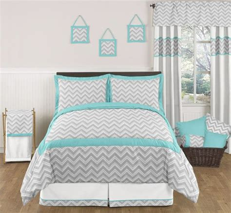 Aqua Bedroom Ls by Turquoise And Gray Zig Zag Childrens And Bedding 3pc