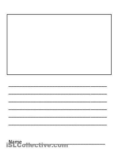 blank writing template 5 best images of blank writing worksheet printable