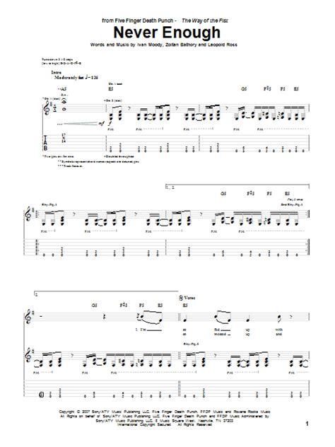 five finger death punch violin sheet music never enough sheet music direct