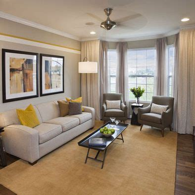Rooms With Bay Windows Designs Gray And Yellow Living Rooms Photos Ideas And Inspirations Window Living Rooms And Layout