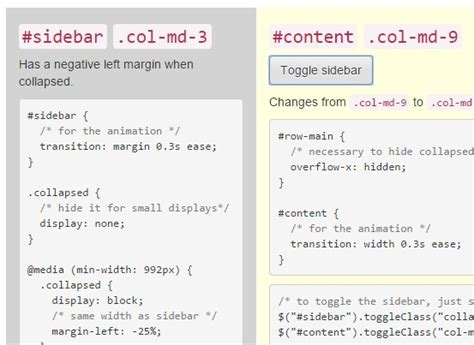 tutorial bootstrap sidebar creating collapsible bootstrap sidebars with jquery and