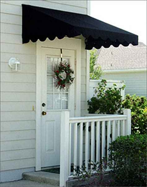 back door awnings door canopies sunbrella awning canvas