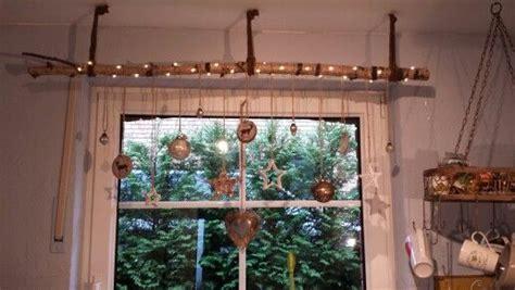 Fenster Weihnachtsdeko Mit Gardinenstange by Birkenstamm Gardinenstange Weihnachtsdeko Mit Birke