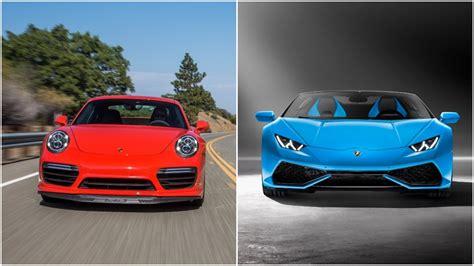 Lamborghini Porsche Are The Lamborghini Huracan Spyder And The Porsche 911
