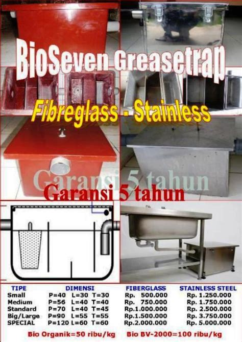 Jebakan Lemak Grease Trap Igt30 Bio Seven Grease Trap Neutralized Tank Saringan Penjebak