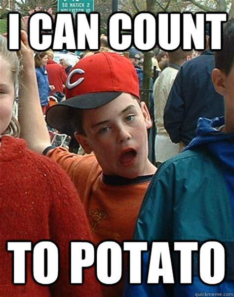 Count To Potato Meme - i can count to potato scumbag kid quickmeme