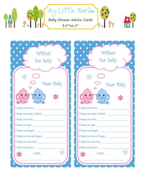 8 best images of baby advice printable cards free free
