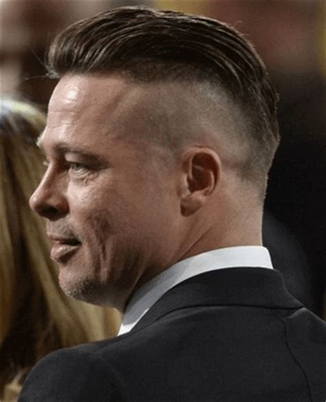 brad pitt decides to grow out forehead hair brad pitt slicked back undercut hairstyle for men