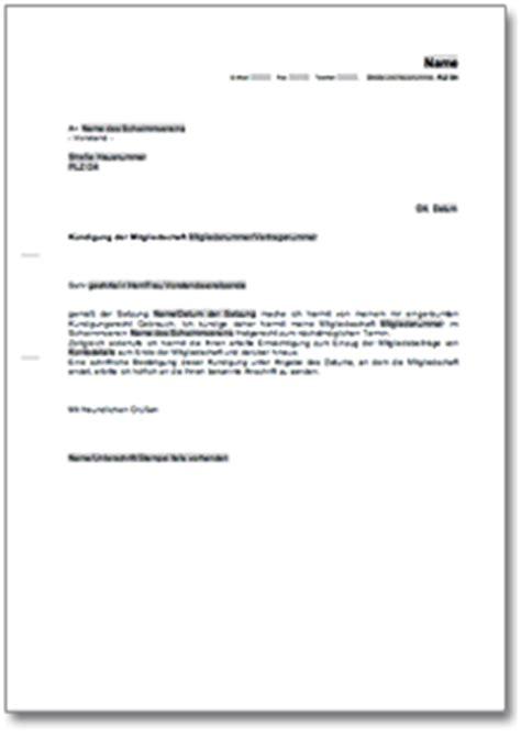 Musterbrief Zur Abmeldung Der Gez Gebührenpflicht K 252 Ndigung Der Mitgliedschaft In Einem Golfverein De Musterbrief