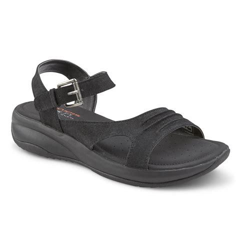 skechers memory foam sandals skechers relaxed fit landings s black memory foam