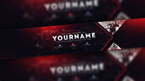 Youtube Gaming Banner Template Best Business Template Photoshop Banner Template