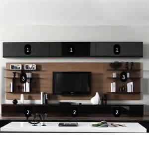 meuble mural tv salon artzein