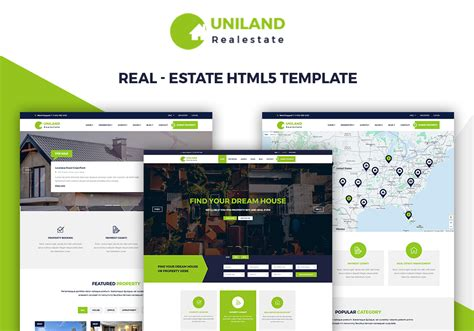 uniland real estate html5 template business