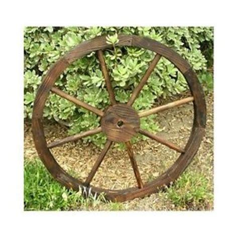 Western Garden Decor Wooden Wagon Wheel Trellis Rustic Distressed Western Garden Yard Planter Decor Ebay