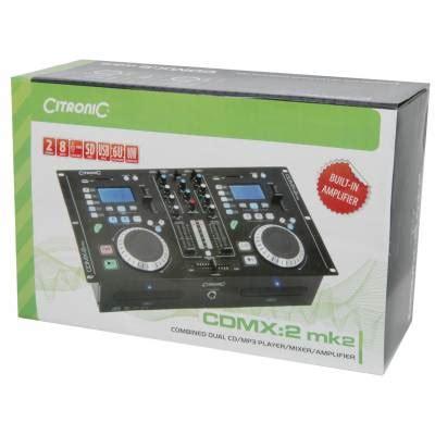 Mixer Lifer Toa Za 206060 Watt citronic cdmx2 mk2 combined dual cd mp3 sd usb player
