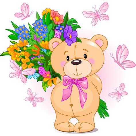 imagenes de osos con rosas y corazones flores para colorear pintar e imprimir