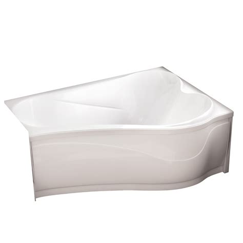 acrylic drop in bathtub shop maax murmur 60 in white acrylic drop in bathtub with