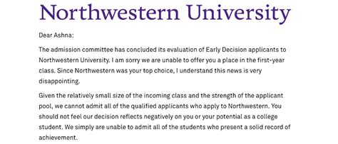 Northwestern Mba Program Review by The Importance Of Rejection The Fourcast
