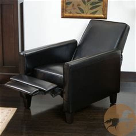 small footprint recliner black leather chair recliner wing office tufted nailed arm