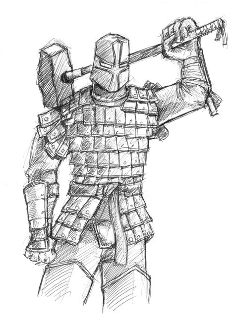 lamellar armored knight by wallcrawler62 on deviantart